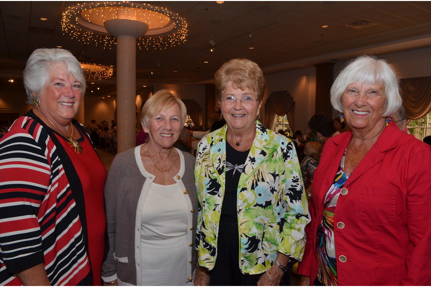 Mary Ann Holtman, Lynda Cavalaris, Harriet Gahman and Nancy Haller