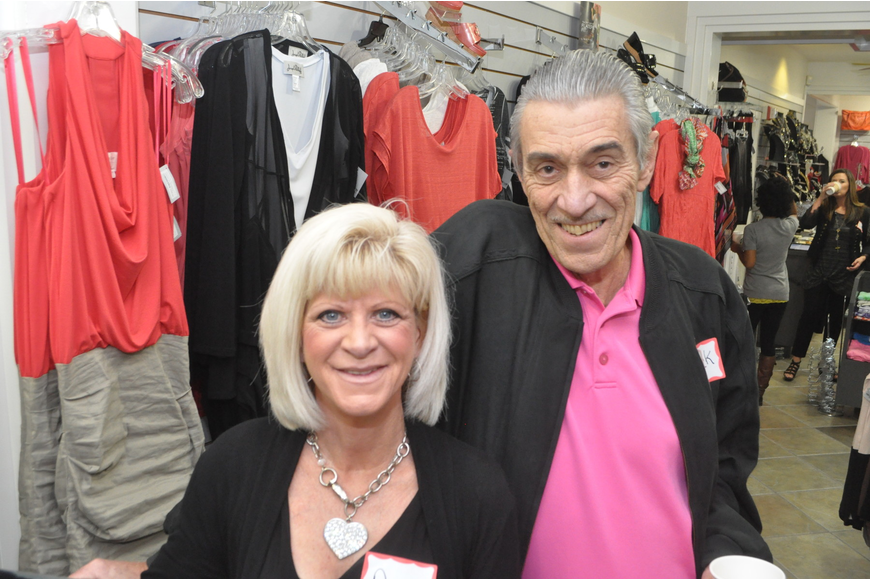 Nancy Metcalf of Foxy Lady and Jack Peffley of Marcello Sport