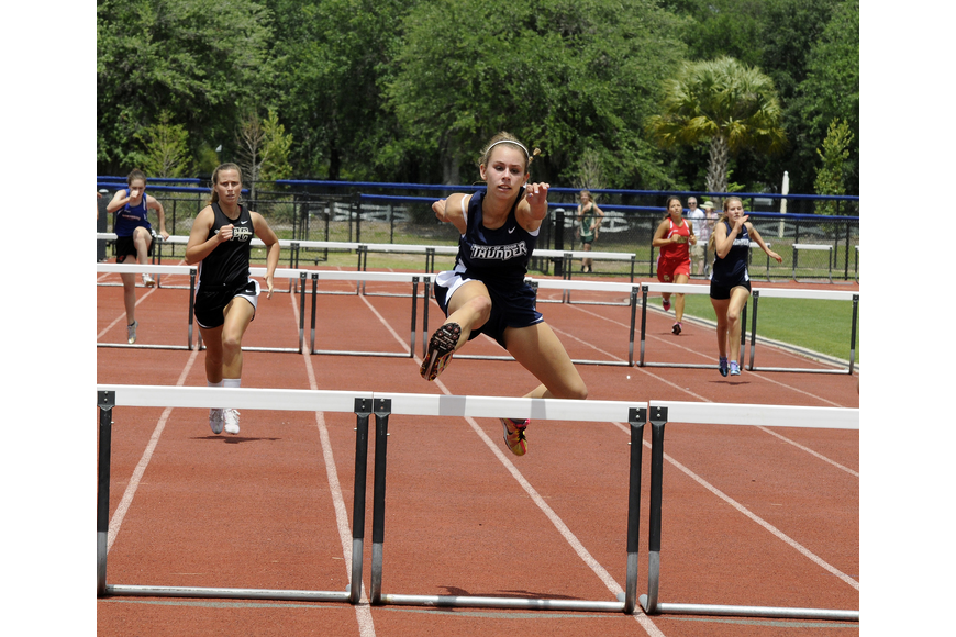 The Out-of-Door Academy's Madison Shaw finished as the district runner-up in the 100-meter hurdles.