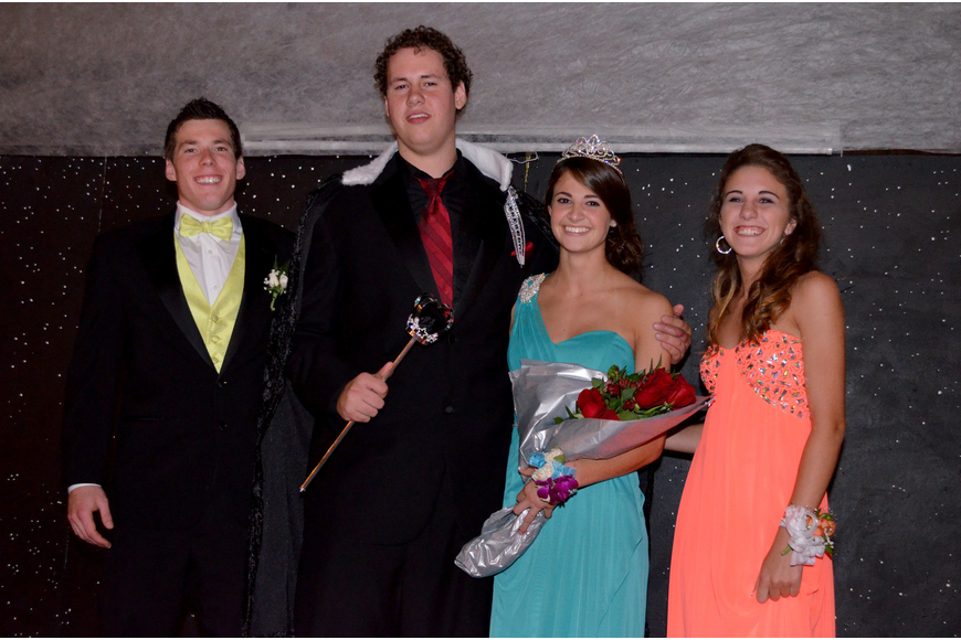 Logan Mayer, king and queen Hunter Drake and Nicole Wittmer and Paige Troyer