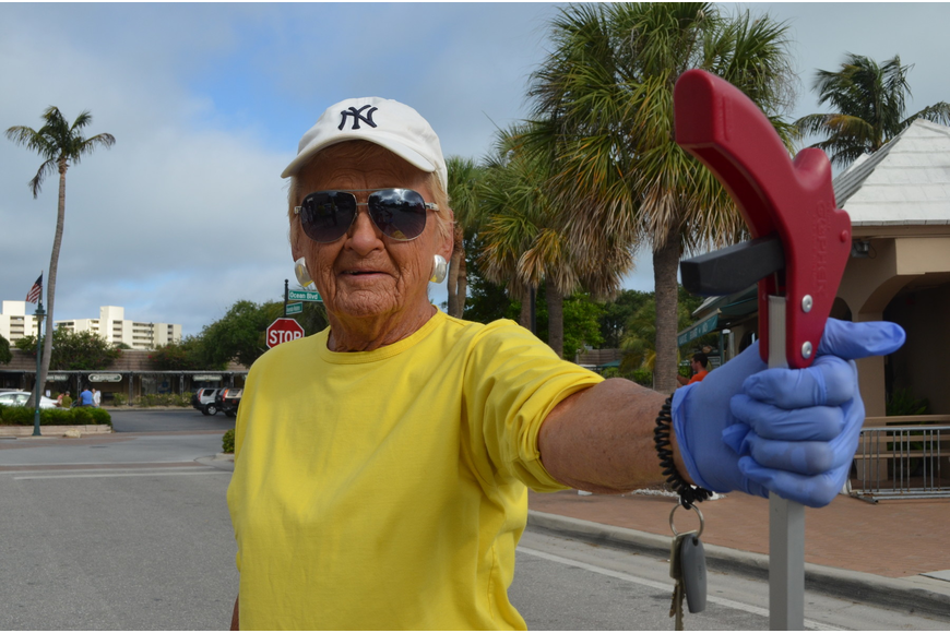 "Siesta Key resident Grace Haake moved to Siesta key after her husband retired in 1987. ""This is my place and I love it,"" Haake said."
