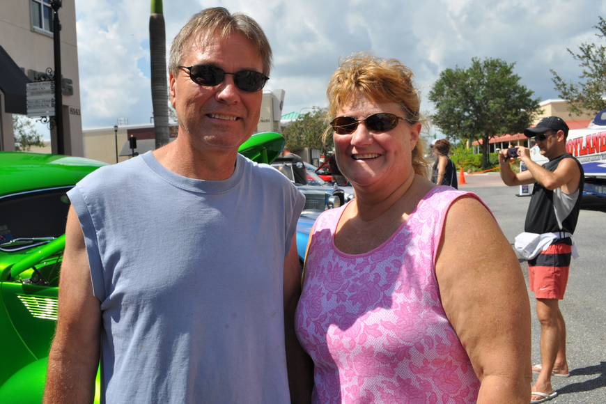 Gary and Julie Pixley were most impressed with a '65 Chevy Monza they saw.