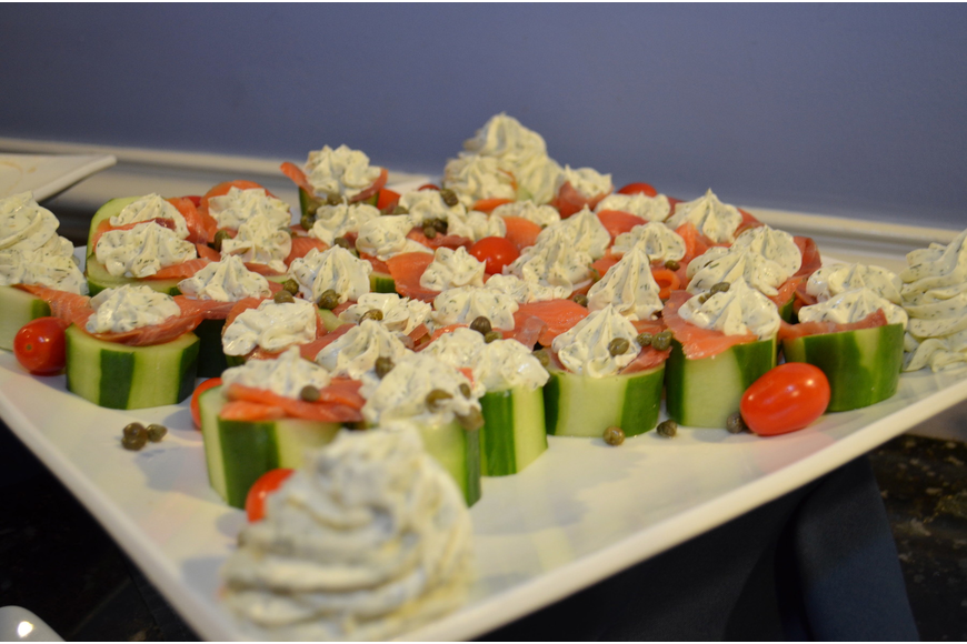 Hotel Indigo's H20 Bistro provided the food at the event.