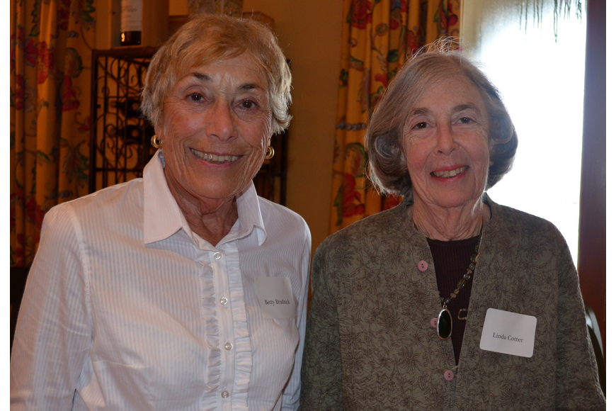 Betty Brudnick and Linda Cotter