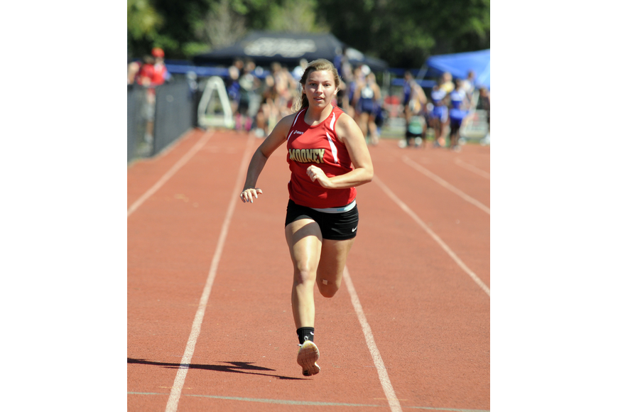 Cardinal Mooney's Courtney Lynne competed in the 100 and 200.