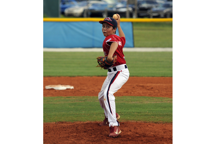 Pip Smalley started the game on the mound for the Sarasota American 9/10 All-Stars June 21.