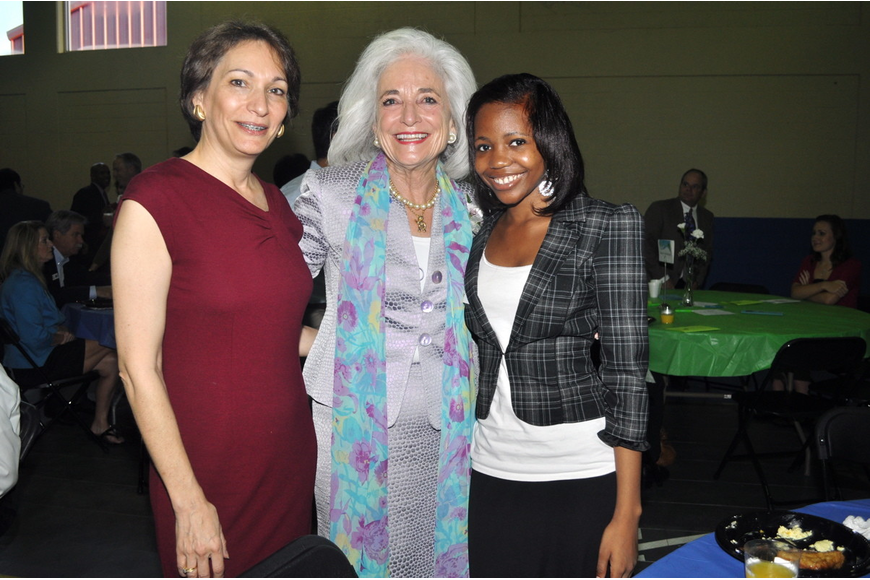 Rebecca Bergman, honoree Graci McGillicuddy and Bianca Sumter