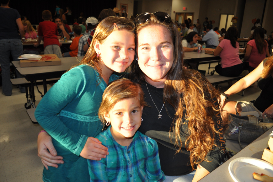 Stephanie Gross enjoyed the evenings with her daughters Meadowe, 8, and Reagan, 6.