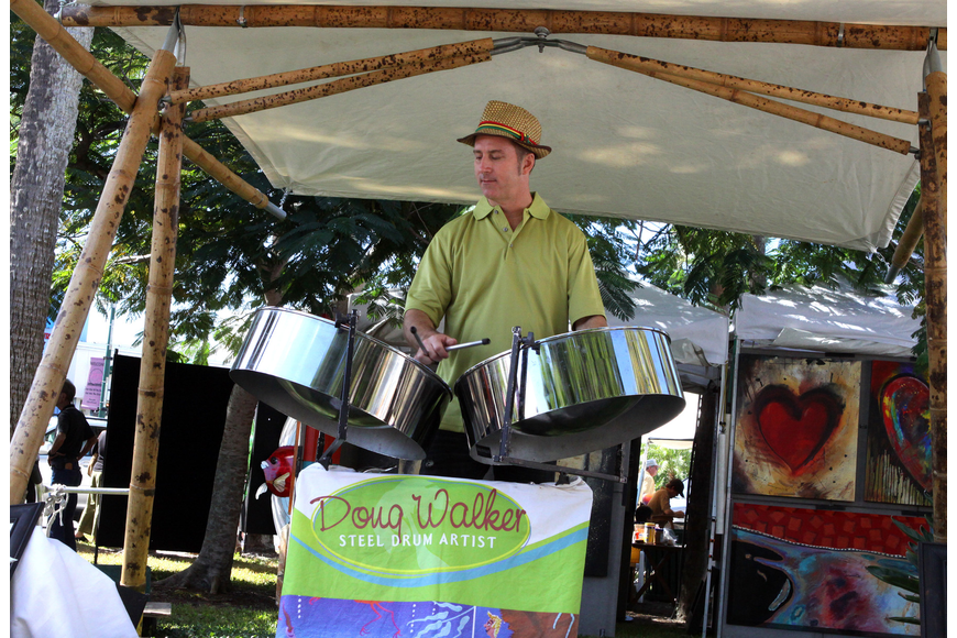 Doug Walker, a steel drum artist, played his steel drums and sold his CDs at the 21st annual St. Armands Art Festival this past Saturday and Sunday.