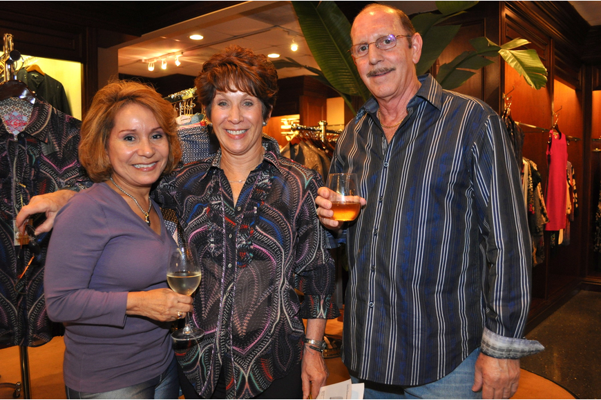 Norma Sanchez with Libby and Stuart Israel