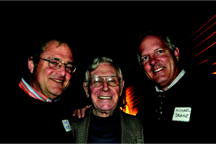 Petey McCarthy, Dutch Arends and President Michael Drake