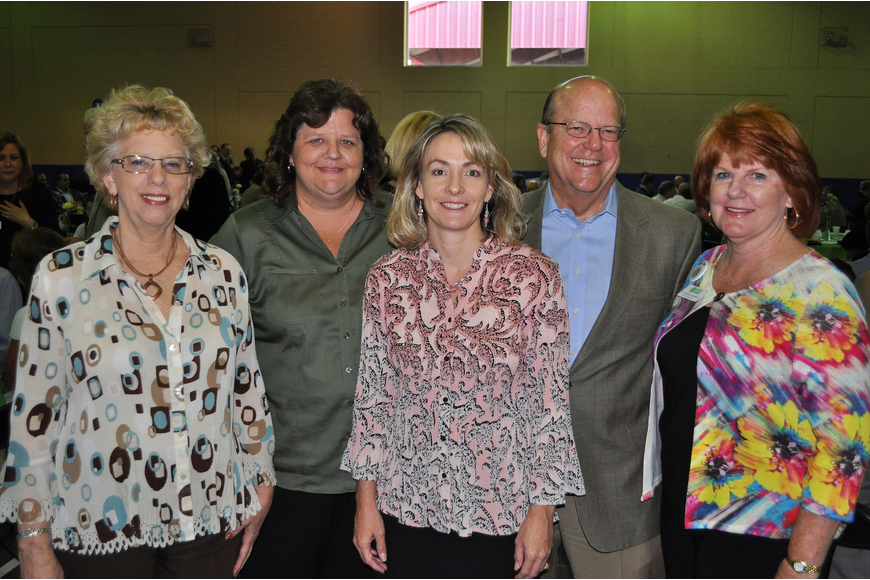 Janet Dodge, Dawn Woods, Lori Richards, Charles Baumann and Dr. Barbara Stafford of FCCI Insurance Group