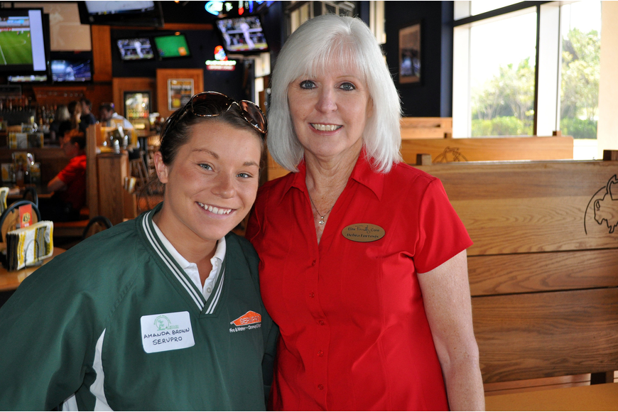 Amanda Brown of ServPro and Debra Fortosis of Elite Family Care