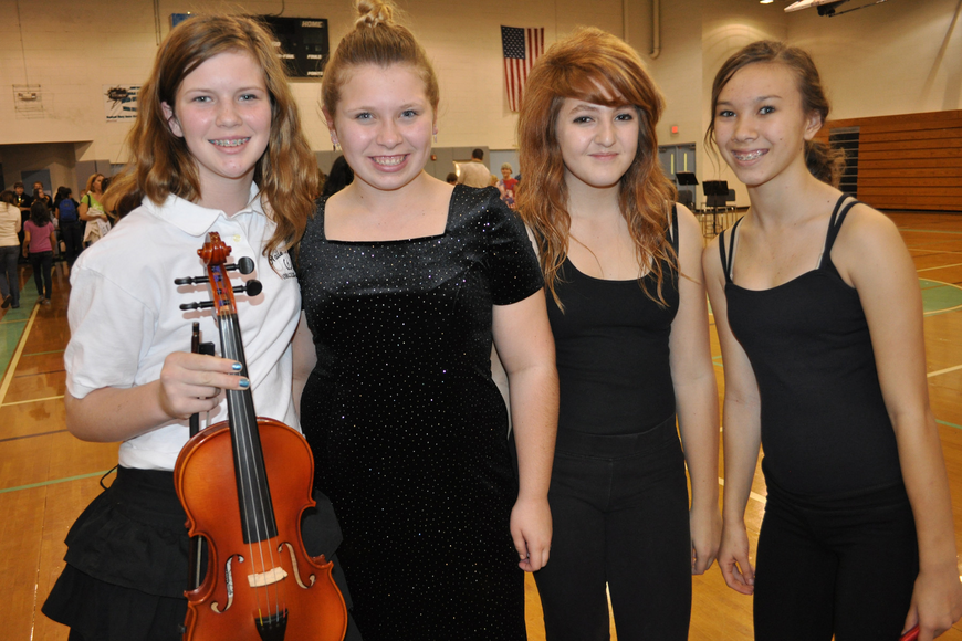 Emma Grooms, Bailey Melichar, Jordyn Declemente and Kristen Massingale all performed as part of the open house.