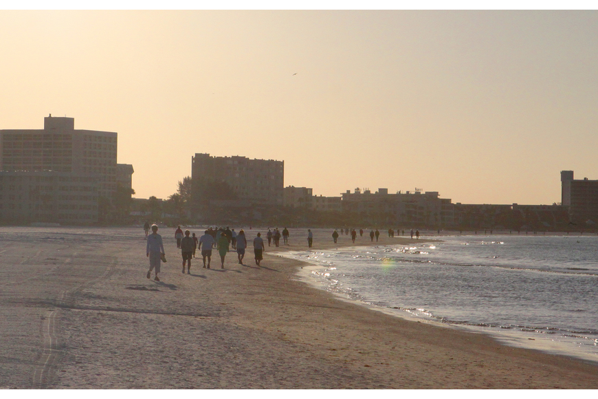 The first Senior Beach Walk of the season was Wednesday, Feb. 1, out on Siesta Key Beach.