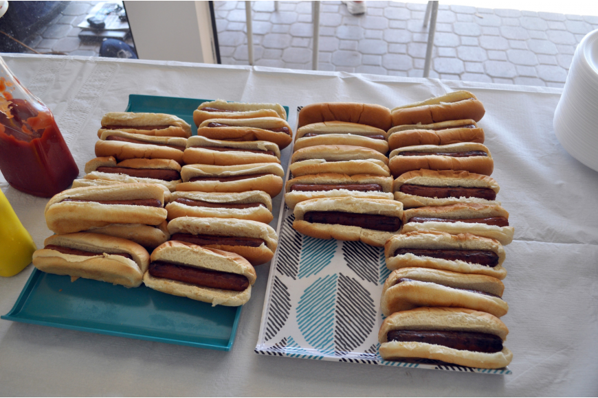 Attendees enjoyed all-you-can-eat hot dogs.