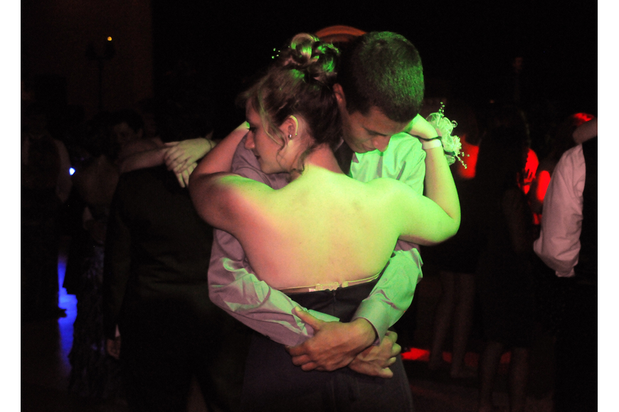 Juniors Nicole Neth and Logan Jones were one of the first couples to hit the dance floor.