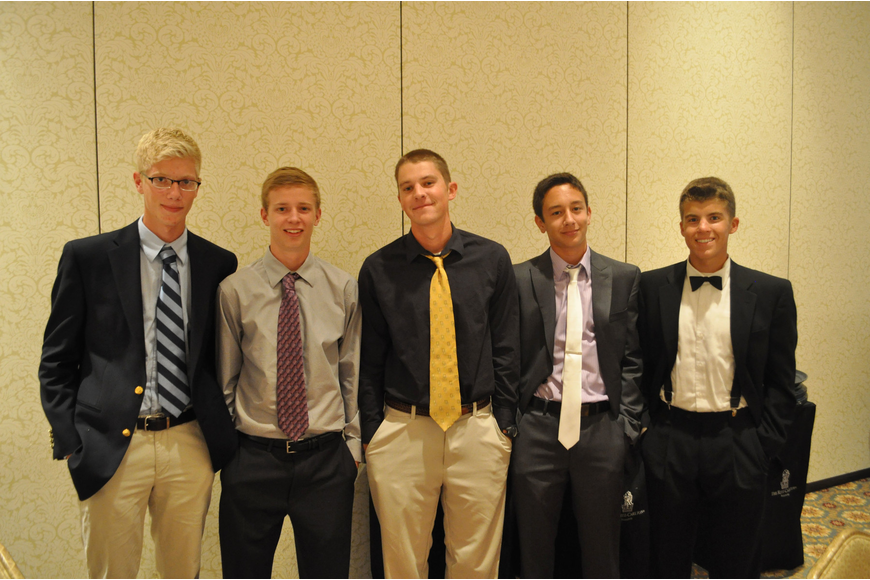 Robert Dykstra, Nick Weibel, John Oravec, Anthony Senseman and Jake Amontree