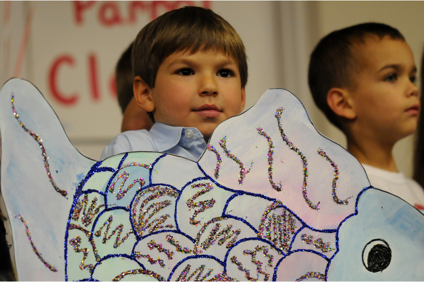"Matthew Shelby performed the ""Rainbow Fish"" with his classmates."