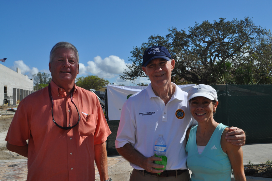 Tom Freiwald with Commissioner Phill Younger and his wife, Fanny