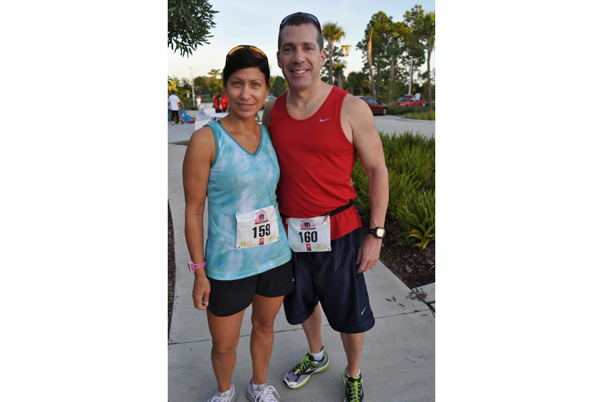 Katina and Ken Shanahan ran together.
