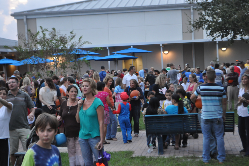 The PTA purchased over 400 pumpkins that were almost gone by the end of the evening.