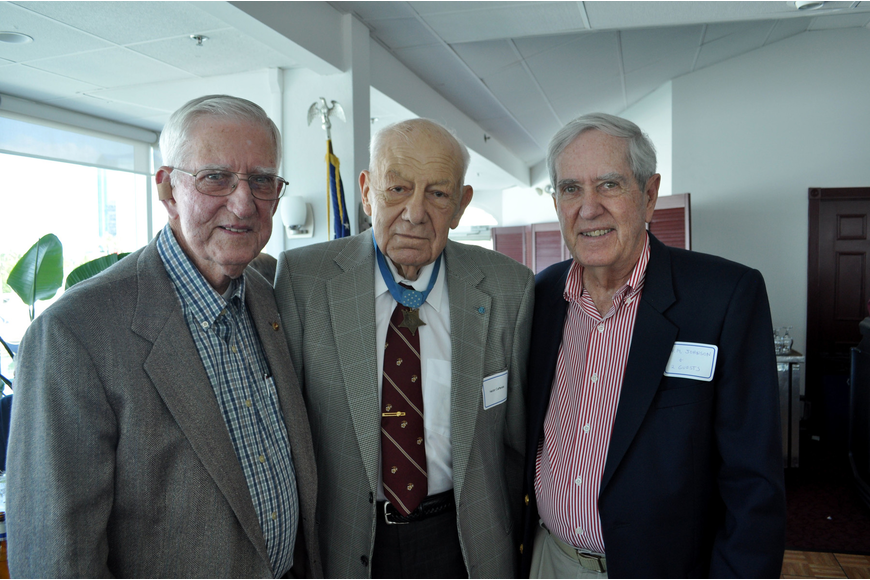 Seabron Johnson, Medal of Honor recipient Hector Cafferata and Martin Johnson