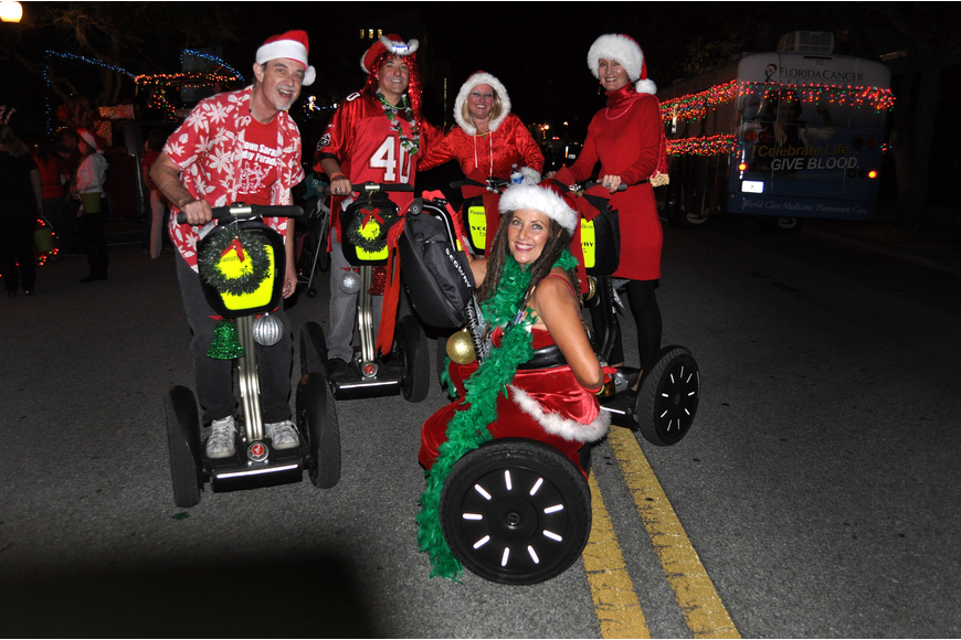 Doug Brough, Steven Glashow, Hillary Maher, Vesna Brezak and Nancy Gianguzzo of Pleasure Florida Segway Tours.