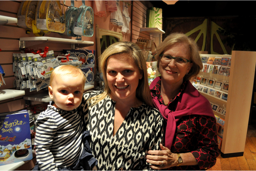 Meredith Piazza with her daughter, Caroline, and mother, Judy Mimz