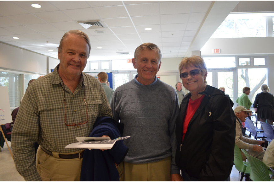 Chuck and Nancy Stevenson attended the conference with Morris Emigh (middle).