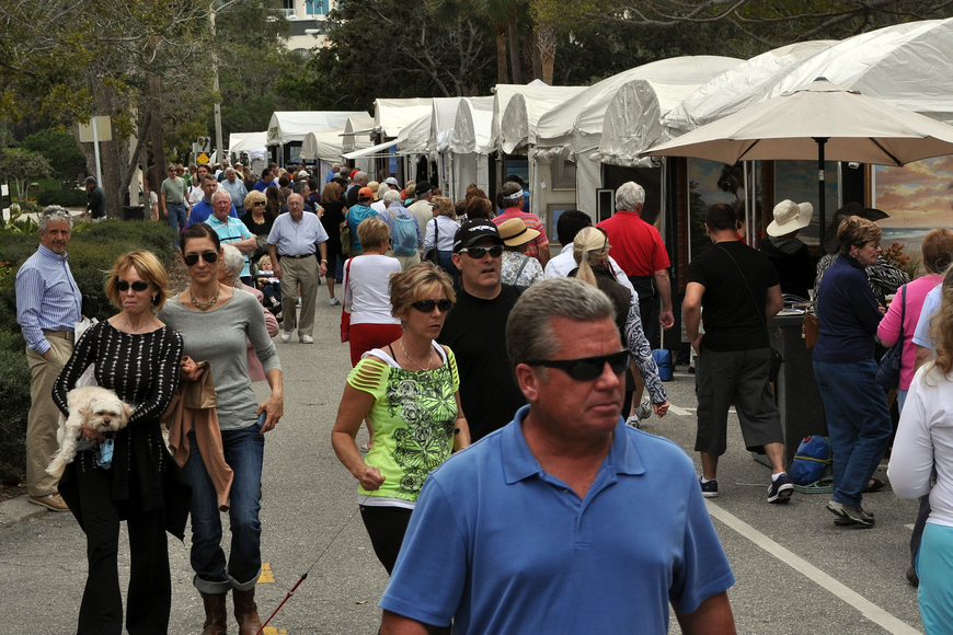 Hundreds of people attended the Sarasota Fine Art Festival Saturday, Jan. 19 and Sunday, Jan. 20.