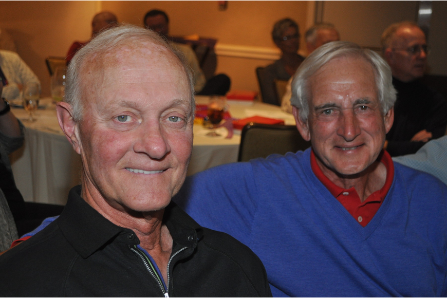 Gene Enlow and Mel Taub at the Longboat Key Club Super Bowl party