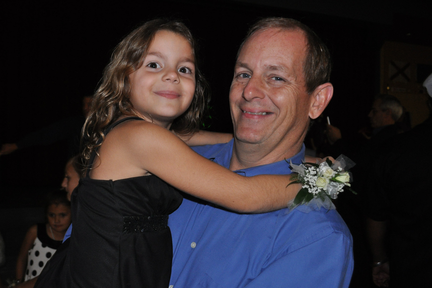 Grace Bondurant enjoyed the night with her father, Jay.