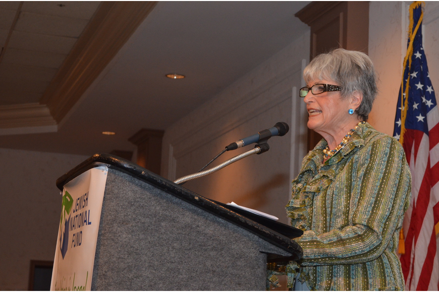 Edie Chaifetz spoke about the history of the Jewish National Fund.