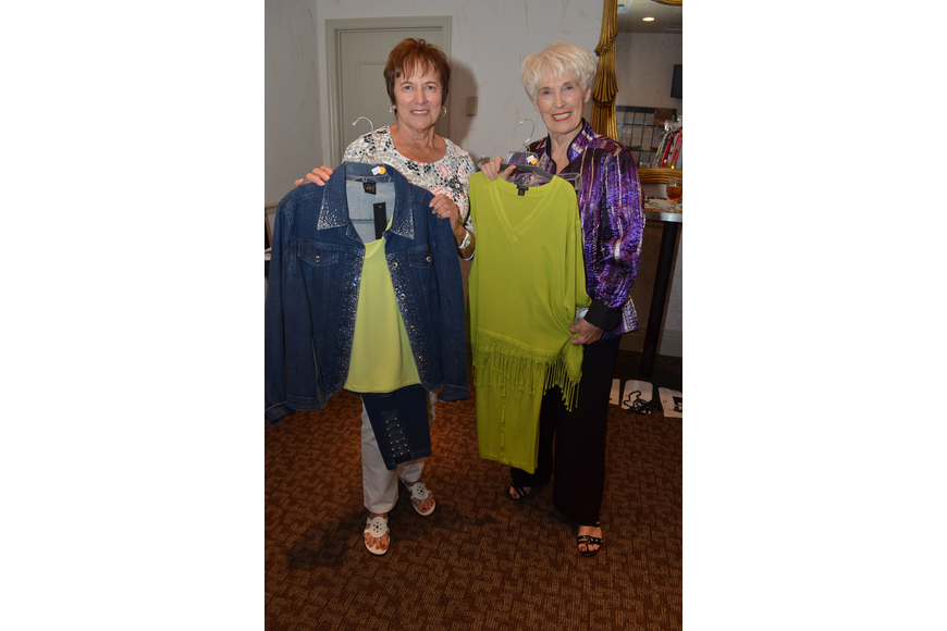 Models Maryann Jones and Carol Goodwin show off the clothing from A-Tu.