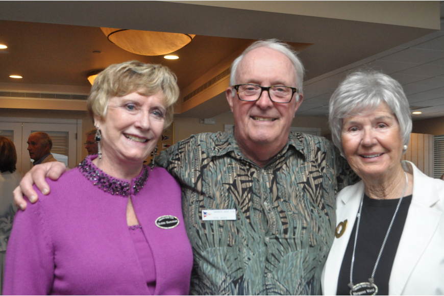 Sarasota Yacht Club bowlers, Bobbie Hamman with Ron and Margaret Ward