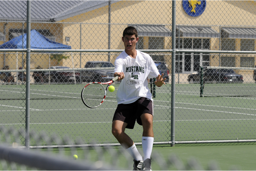 Jacques Swanepool played No. 2 doubles for Lakewood Ranch.
