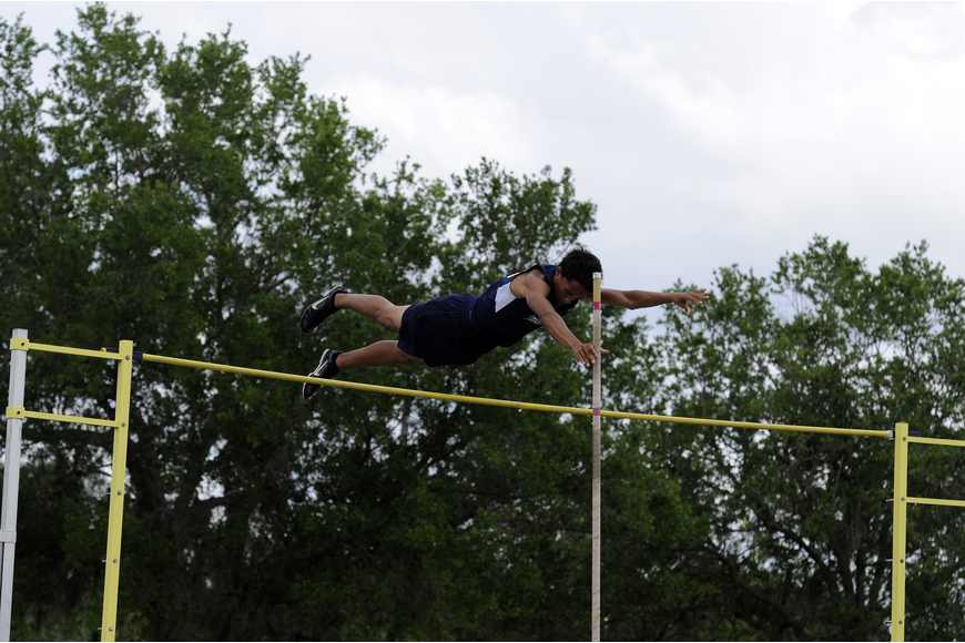 The Out-of-Door Academy sophomore Tre Gregory finished as the district runner-up in the pole vault.