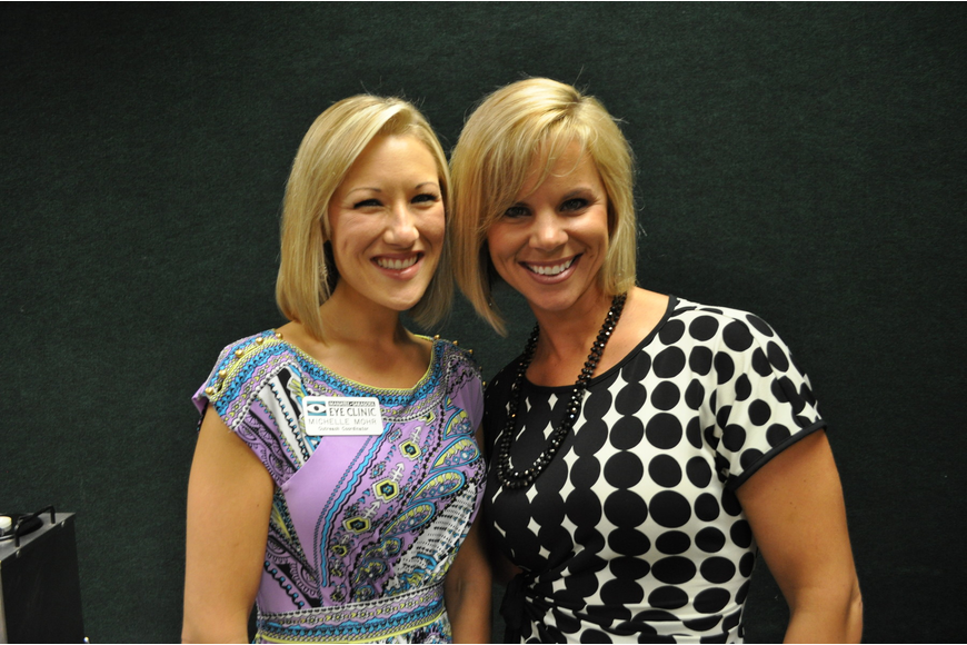Michelle Mohr of Manatee Sarasota Eye Clinic and Kristi Bracewell, the executive briefing speaker