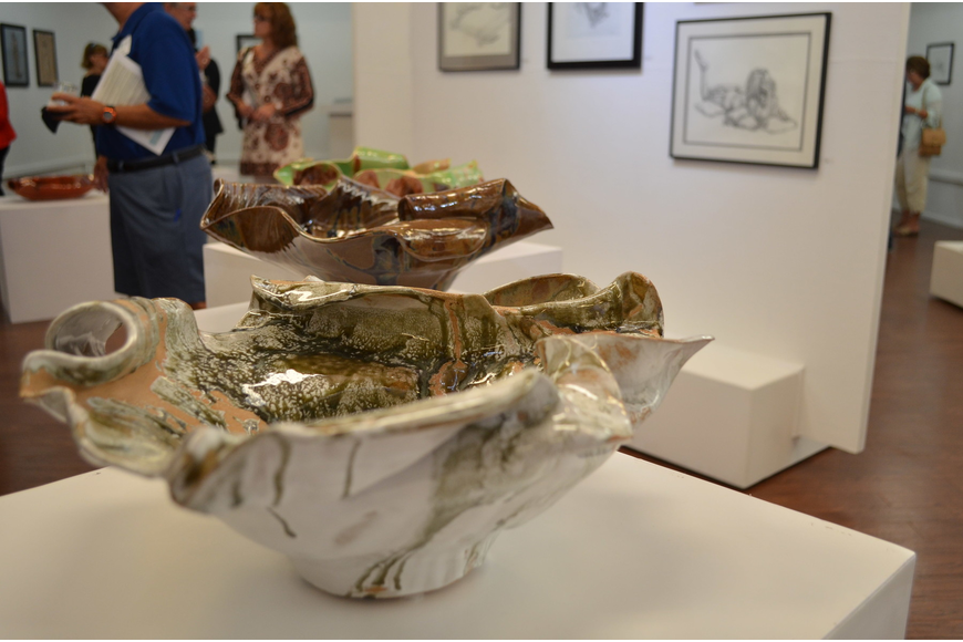 Michelle Redwine's pottery displayed at the Longboat Key Center for the Arts.