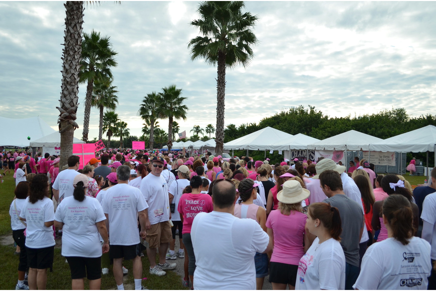 More than 10,000 people attended Making Strides for Breast Cancer Saturday, Oct. 19, at the Sarasota Polo Club.
