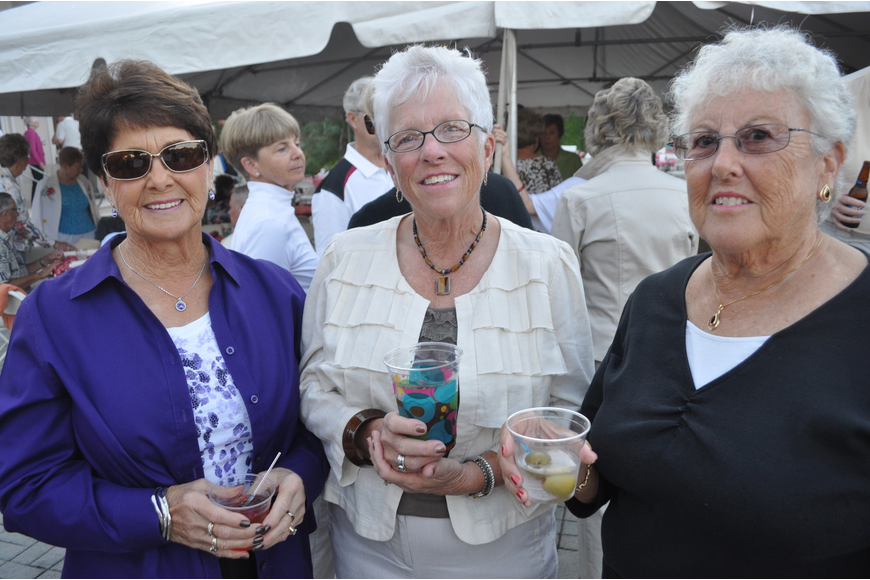 Carol Wilhelm, Jackie Demerly and Diane Weissenberg enjoy the people the most at Rosedale.