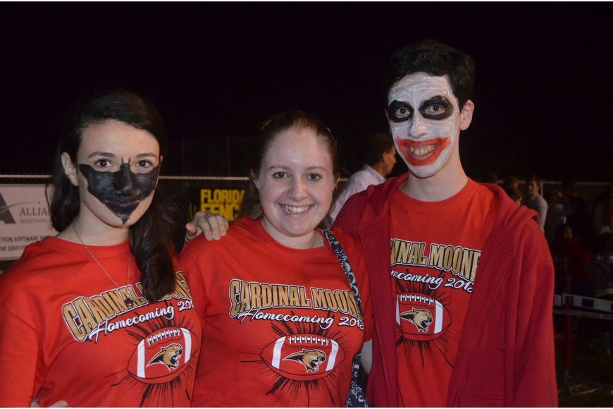 Alison Palmer, Sarah Vankeuren and Victor Trouy had their faces painted