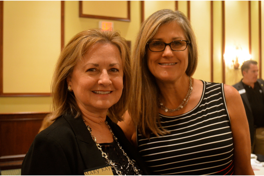 Sharon Davis, of Mary Kay, and Wendy Last, of Legal Shield.