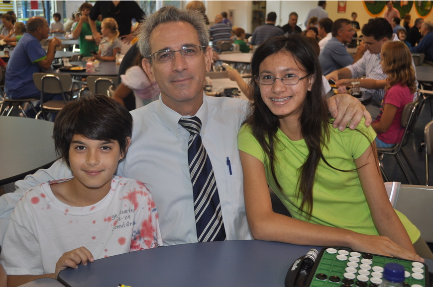 Edward Brunicardi with his father Edward and his sister Jade