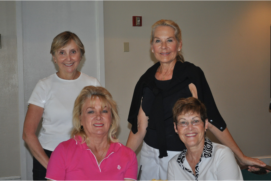 Back row: Sandy Wood and Melanie Simonsen. Front row: Paulette Samowitz and Nancy Curtis