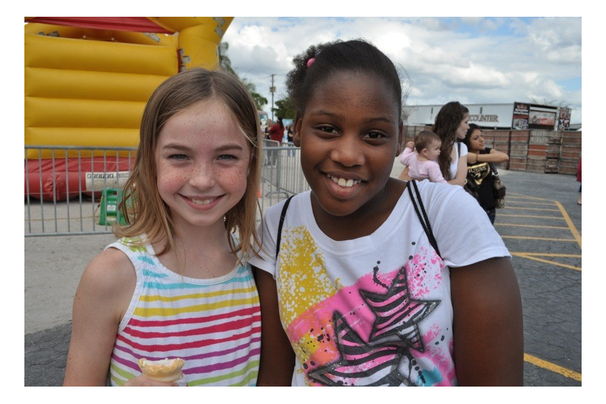 Ashley Gerbig, 8, and Amari Moore, 11, came out to watch their sisters perform.