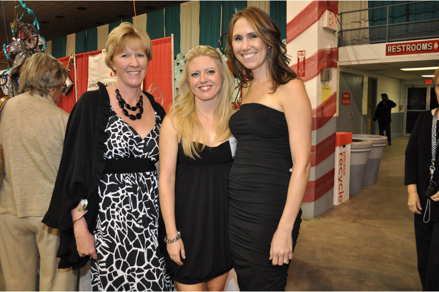 Junior League President Angie Stringer with Liz Reuth and event Chairwoman Crystal Burkhart