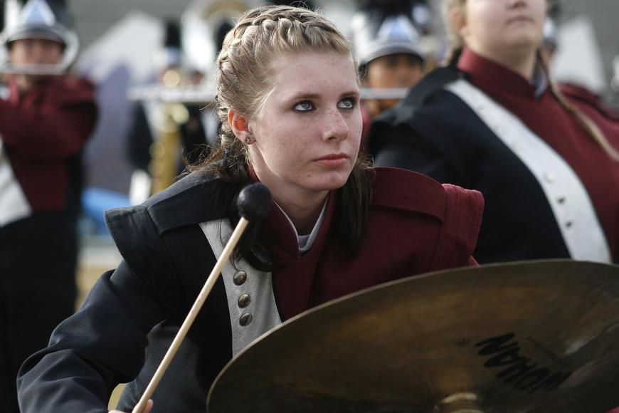 Arika Brown was a member of this year's pit percussion section.