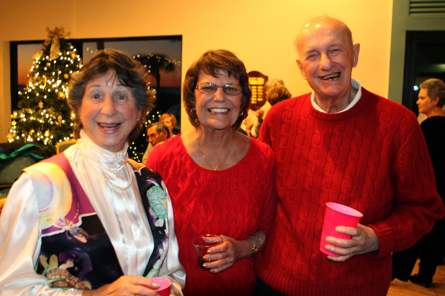 Barcy and Mil Grauer pose with their friend, in the middle, Kathy Naso.